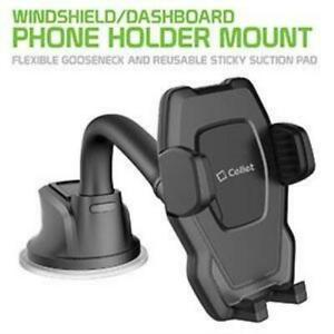 Gooseneck Windshield/Dashboard Phone Mount iPhone 12 Pro Max Samsung Galaxy Note
