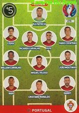 279 TEAM ELEVEN PORTUGAL CARD ADRENALYN EURO 2016 PANINI