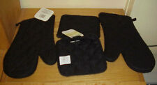 4 pc ~  BLACK  Oven Mits Mit Pot Holders NEW FREE SHIPPING