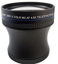 4.5X SUPER Telephoto HD Lens F Canon G10 G9 G7 SX1 SX10 SX20 SX30 SX40 SX40IS SX