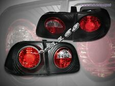 Fit For 99-00 HONDA CIVIC 4D/4DR SEDAN JDM BLACK TAIL LIGHTS