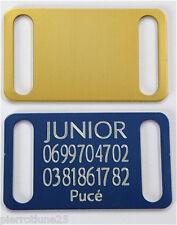 PLAQUE Médaille gravée dorée collier Chien harnais gravure offerte gm
