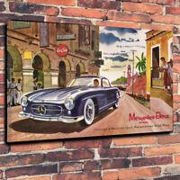"Classic Mercedes Benz 300SL Printed Canvas Picture A1.30""x20"" 30mm Deep"