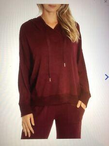 Midnight Bakery Pajama Set with Hoodie Medium Maroon