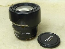 CANON EF-S 17-85MM F4-5.6 IS USM ULTRA WIDE ANGLE ZOOM LENS + hood