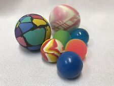 Lot of 7 Vintage & Other Swirl Rubber Super Ball / Bouncy Ball Collection