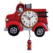 Allen Designs Vigili del Fuoco Muro-Orologio Nuovo/Scatola Originale Fire Truck clock horloge pendule REGALO