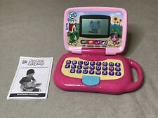 LeapFrog My Own Leaptop Learning Game Computer Laptop Pink Works