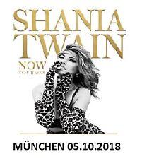 Bis zu 4 Tickets SHANIA TWAIN 05.10.2018 München - Wert ca. 83 Euro - Hardcover