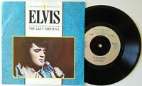 "NM/NM ELVIS PRESLEY The Last Farewell 7"" VINYL 45 (RCA 459) UK 1984"