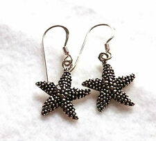 Seestern Ohrhänger Kinder Ohrringe 925 Sterling Silber Neu * starfish earrings
