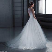 White Ivory Lace Bridal Gown Wedding Dress Custom Size: 4 6 8 10 12 14 16 18