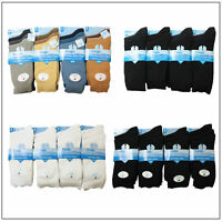12 Pairs Mens Designer Plain Socks, Cotton Rich Lycra Design Socks, Size 6-11