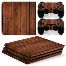 Vinyl Sticker Decals for PS4 Pro Console & Controller Skin Wood PlayStation 4
