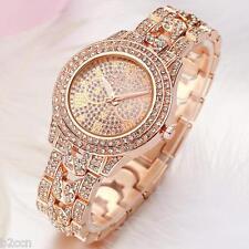 Luxury Ladies Dress Watch Rhinestone Stainless Steel Quartz Analog Wrist Watches