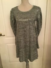 * NWT* Zara Silver Long Sleeves DRESS SIZE M