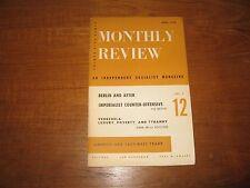 1954 Monthly Review (Socialist) F.D. Reeve, Venezuela, Elena De La Souchere, ETC