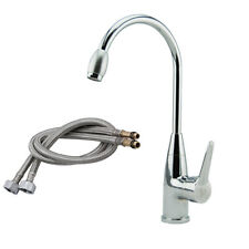 Hot/Cold Chrome Plated Mixer Water Tap Basin Kitchen Wash Basin Faucet With Hose