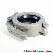 "3"" Fluid Quip Grooved Pipe Coupling Clamp With Gasket, Aluminum Quick Connect"