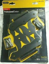 NEW Stanley 8 Inch Western Style Heavy Duty T-Hinges Satin Black 2 Pack
