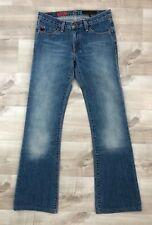 AG Adriano Goldschmied The Angel Jeans Boot Cut Light Wash Made in USA Size 25 R