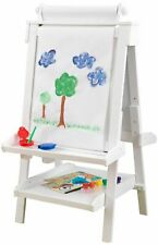 Deluxe Standing Wooden Easel With Paper Roll - White by KidKraft