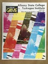 Albany State Tuskegee COLLEGE FOOTBALL PROGRAM - 1974 - EX