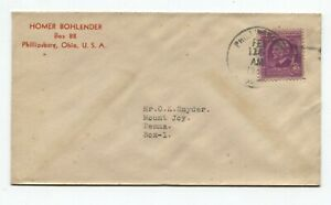 Phillipsburg OH to Mount Joy PA 3/15/1940 Homer Boklender Commercial Emerson 861