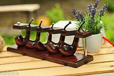 5 tobacco pipe stand KAF5 handmade from ash-tree by KAFpipeWorkshop