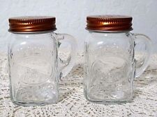 Olde Thompson Canning Mason Jar Salt Pepper Shakers Copper Top Clear Glass