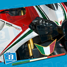 Fit For Ducati 1199 PANIGALE S Tricolore Side Strip & Nose Fairing Decal Sticker