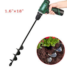 18 inch Planting Auger Spiral Hole Drill Bit For Garden Yard Earth Bulb Planter