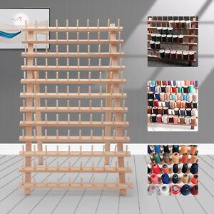 120 Spool Wood Thread Tailor Holder Rack Sewing Organizer Storage Bobbin Sew UK