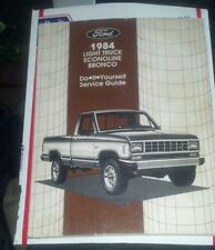 1984 FORD F150 F250 F350 BRONCO FACTORY DO IT YOURSELF MANUAL RARE TO FIND