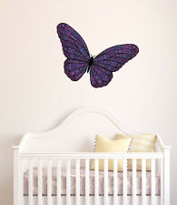 "CLR:WALL - Patterned Butterfly - Vinyl Wall Decal ©YYDC (18""w x 11""h) COLORS"