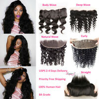 8A Brazilian 13x4 Pre Plucked Lace Frontal Wavy/Curly/Straight Virgin Human Hair
