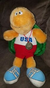 "Vintage 1984 Los Angeles Summer Games Olympics Plush Tortoise 13"" ULTRA RARE"