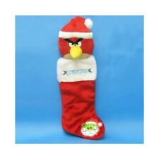 "Kurt Adler 23"" Angry Birds Red Plush Head Christmas Tree Stocking Holiday BD7124"