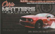 2016 Chris Matters '06 Saleen Ford Mustang PRI Show Promo PDRA NMRA postcard
