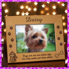 5x7 PERSONALIZED CUSTOM CUTE PET DOG ALDERWOOD PICTURE FRAME - send name