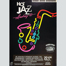 HOT JAZZ MEETING'89. Affiche Tonhalle Düsseldorf 1989