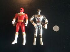 Power Rangers Silver Ranger Action Figure by Bandai 1995 & Red Zeo Ranger Set