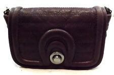 7  CHI CROSSBODY CHAIN Handbag Bag Purse QUILTED MAUVE COLOR Leather Small