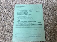Arrow Development Company Antique 4 passenger car ride quote sheet 1962