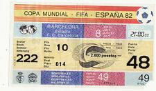 Rare ticket place COUPE MONDIALE FIFA ESPANA 82-BARCELONA-222