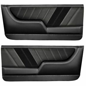 TMI Molded Sport R Door Panels for 1968 - 1972 Nova with Contrast Stitch