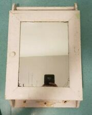 Vintage Rustic Medicine Cabinet with Built in Towel Bar