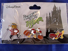 Disney * TOWER OF TERROR * 3 Pin Bellhop Themed Pin Set New on Card Trading Pins