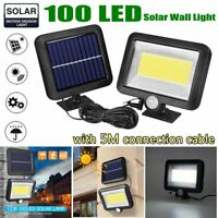 1200LM 100 COB LED Solar Wall Light Outdoor Garden Security Motion Sensor Lamp