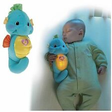 NIGHTTIME FRIEND FOR BABY -OCEAN WONDERS SOOTHE & GLOW BLUE SEAHORSE PLUSH
